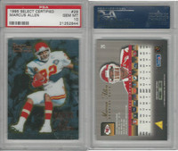 1995 Pinnacle Select Cert. Football, #29 Marcus Allen HOF, Chiefs, PSA 10 Gem