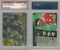 1995 Pinnacle Sportflix Football, #95 Rod Woodson, Steelers, PSA 10 Gem