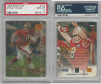 1995 Pinnacle Sportflix Football, #152 Steve Young, 49ers, PSA 10 Gem