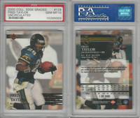 2000 Collectors Edge Football, #129 Fred Taylor, Jaguers, PSA 10 Gem
