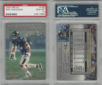 2000 Fleer Metal Football, #196 Rod Woodson, Ravens, PSA 10 Gem