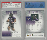 2002 Upper Deck Graded Football, #97 Chester Taylor, Ravens, PSA 10 Gem