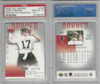 2002 Upper Deck Graded Football, #105 Dusty Bonner, Falcons, PSA 10 Gem