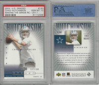 2002 Upper Deck Graded Football, #130 Chad Hutchinson, Cowboys, PSA 10 Gem