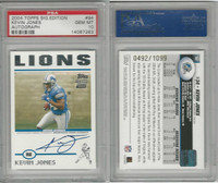 2004 Topps Signature Football, #94 Kevin Jones AUTO, Lions, PSA 10 Gem