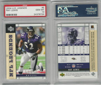 2004 Upper Deck Legends Football, #5 Ray Lewis, Ravens, PSA 10 Gem