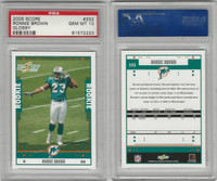 2005 Donruss Score Football, #332 Ronnie Brown, Dolphins Glossy, PSA 10 Gem