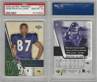 2006 Upper Deck Premiere Football, #27 D. Williams, Ravens, PSA 10 Gem