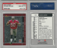 2007 Topps Finest Football, #146 Gaines Adams, Buccaneers, PSA 10 Gem