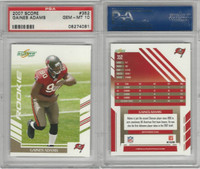 2007 Donruss Score Football, #352 Gaines Adams, Buccaneers, PSA 10 Gem