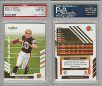 2007 Donruss Score Football, #371 Brady Quinn, Browns, PSA 10 Gem