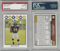 2008 Topps Football, #352 Ray Rice, Ravens, PSA 10 Gem
