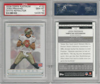 2009 Topps Platinum Football, #122 Josh Freeman RC, Buccaneers, PSA 10 Gem