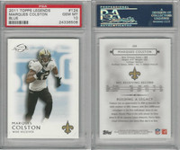 2011 Topps Legends Football, #124 Marques Colston, Saints, PSA 10 Gem