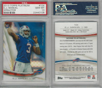 2013 Topps Platinum Football, #104 E.J. Manuel RC, Bills, PSA 10 Gem