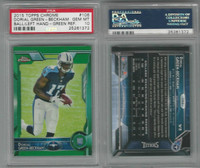 2015 Topps Chrome Football, #106 Dorial Green-Beckham RC, Green, PSA 10 Gem