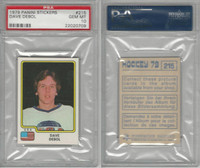 1979 Panini Stickers Hockey, #215 Dave Debol, USA, PSA 10 Gem