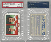 1979 Panini Stickers Hockey, #258 Grubauer/Anken, Switzerland, PSA 10 Gem