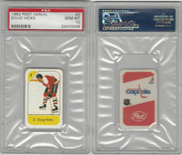 1982 Post Cereal Hockey, #2 Doug Hicks, Capitals, PSA 10 Gem