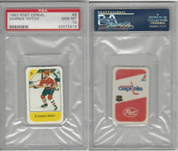 1982 Post Cereal Hockey, #6 Darren Veitch, Capitals, PSA 10 Gem