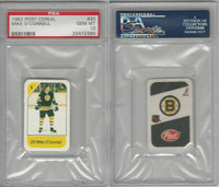 1982 Post Cereal Hockey, #20 Mike O'Connell, Bruins, PSA 10 Gem