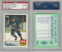 1990 Topps Team Scoring Leaders Hockey, #10 Pat LaFontaine, PSA 10 Gem
