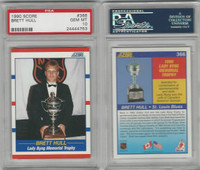1990 Score Hockey, #366 Brett Hull HOF, Blues, PSA 10 Gem