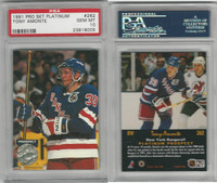 1991 Pro Set Platinum Hockey, #262 Tony Amonte RC, Rangers, PSA 10 Gem