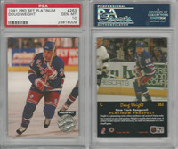 1991 Pro Set Platinum Hockey, #263 Doug Weight RC, Rangers, PSA 10 Gem