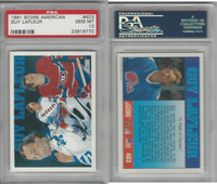 1991 Score American Hockey, #403 Guy Lafleur HOF, Canadiens, PSA 10 Gem