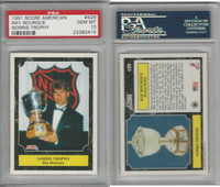1991 Score American Hockey, #429 Ray Bourque HOF, Bruins, PSA 10 Gem