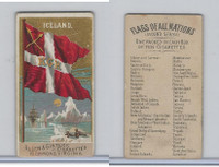 N10 Allen & Ginter, Flags of all Nations, 1890, Iceland