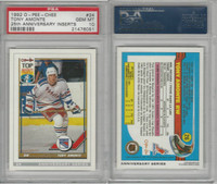1992 O-Pee-Chee 25th Anniversary Inserts Hockey, #24 Tony Amonte, PSA 10 Gem