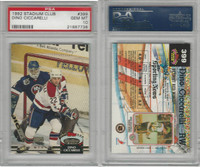 1992 Topps Stadium Club Hockey, #399 Dino Ciccarelli, Capitals, PSA 10 Gem