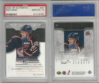 2003 Upper Deck SP Authentic Hockey, #24 Rick Nash, Blue Jackets, PSA 10 Gem