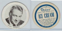 F Card Dixies Ice Cream, Movie Stars, 1970's, Gary Cooper