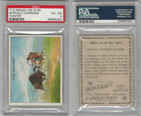T73 Hassan, Indian Life, 1910, Buffalo Charging Hunter, PSA 4 VGEX