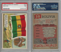 1956 Topps, Flags of the World, #10 Bolivia, PSA 7 NM
