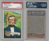 1956 Topps, U.S. Presidents, #14 James K. Polk, PSA 7 NM