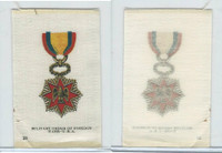 SC2 BAT Silk, Orders & Military Medals, 1910, #23 Foreign Wars, USA