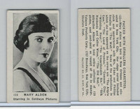 T85-3 Tobacco Products, Strollers, Movie Stars, 1922, #123 Mary Alden