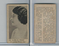 T85-3 Tobacco Products, Strollers, Movie Stars, 1922, #152 Clara K. Young