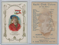 N140 Duke, Yacht Club Colors, 1890, Williamsburgh Yacht Club, Modjeska