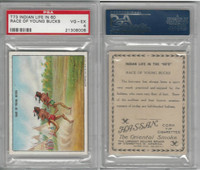 T73 Hassan, Indian Life, 1910, Race of Young Bucks, PSA 4 VGEX