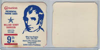 F259 Carnation, Presidential Trading Cards, 1960's, #9 William Henry Harrison