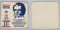 F259 Carnation, Presidential Trading Cards, 1960's, #11 James Polk