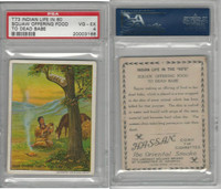 T73 Hassan, Indian Life, 1910, Squaw Offering Food, PSA 4 VGEX