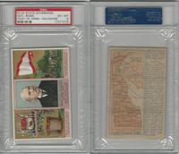 N133 Duke, State Governors, Coats of Arms Tri-Fold, 1888, Delaware, PSA 6 EXMT