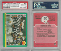 1984 Fleer Team Action Football, #75 Officials Conference, PSA 10 Gem
