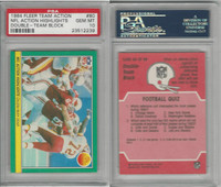 1984 Fleer Team Action Football, #80 Double Team Block, PSA 10 Gem